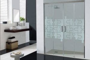 Mampara de ducha dos puertas abatibles